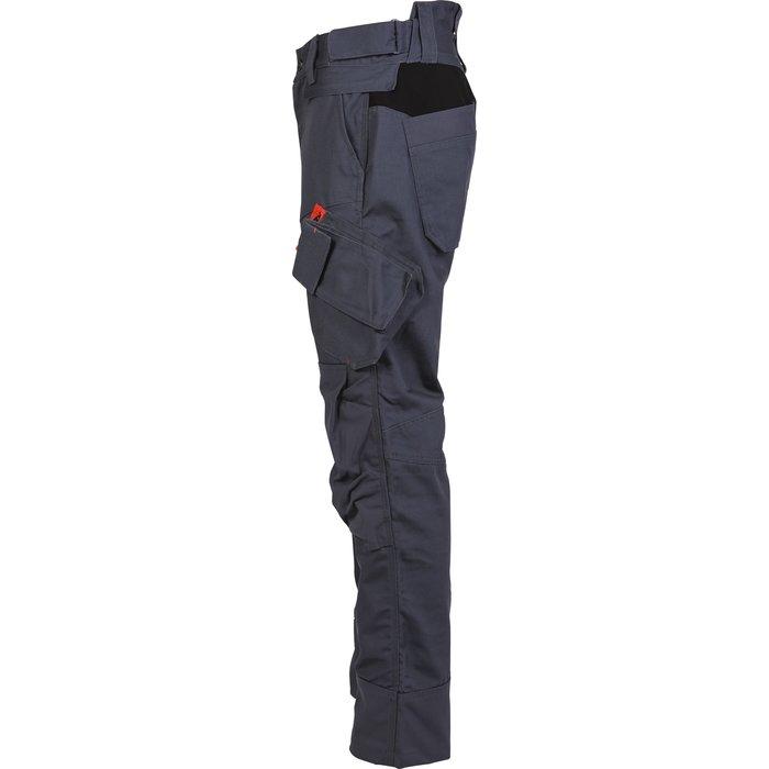 Pantalon de travail multipoches Brakel - Toile - Gris-4