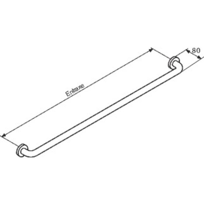 Barre d'appui droite - Diamètre 34 mm - Nylon-1