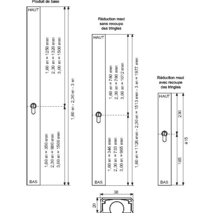 Serrure Styl'Barr - 2 points - Pour cylindre européen-3
