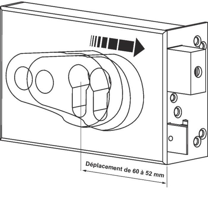 Serrure de sûreté en applique ND10 - À fouillot-2
