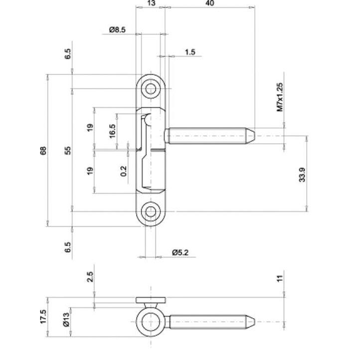 Fiche sur platine - PVC-1