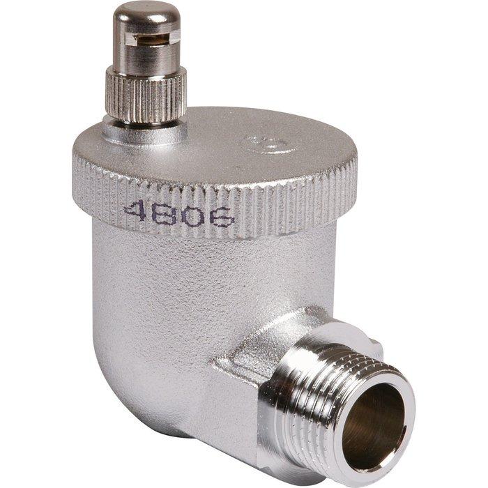Purgeur d'air automatique - Pour radiateur fonte aluminium ou acier - Équerre - Mâle-1