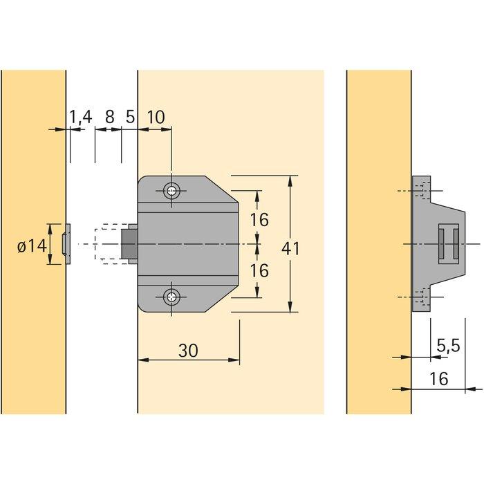 Magnétique à pression D7/ GP9-1