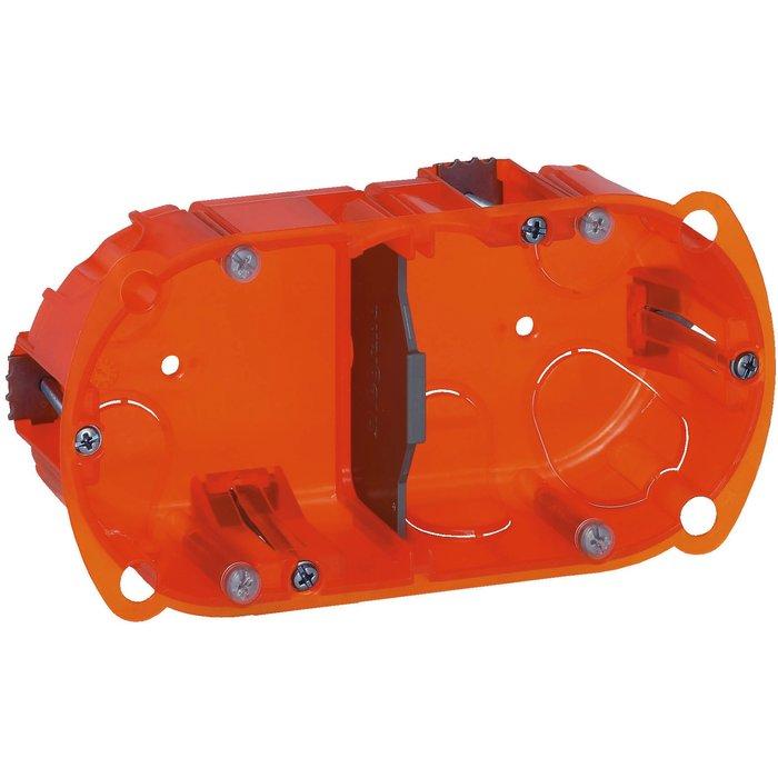Boîte d'encastrement Batibox - Multimatériaux - 2 postes - Profondeur 40 mm-1