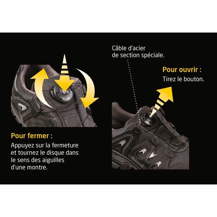 Chaussures basses de sécurité - Système laçage rapide Boa® - Cuir-4