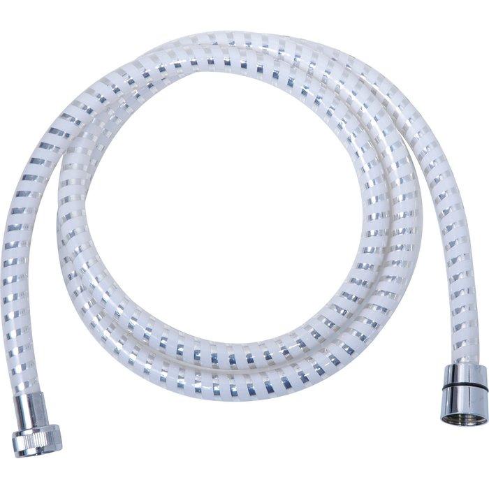 Flexible de douche PVC - Décor annelé - Semi-lisse