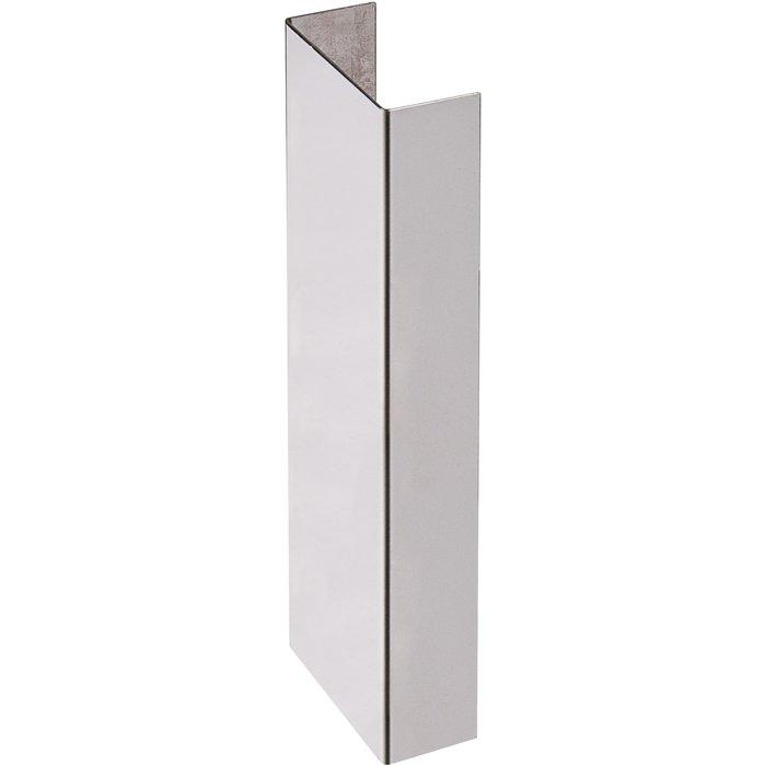 Embout de plinthe de bas de porte - Inox brillant - Longueur 150 mm