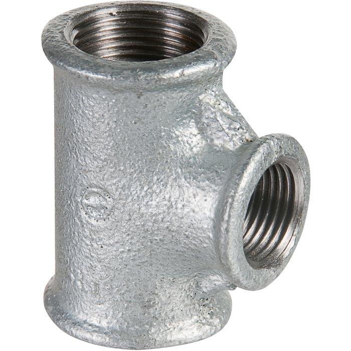 Raccord té réduit - Fonte galvanisée - 130R-1
