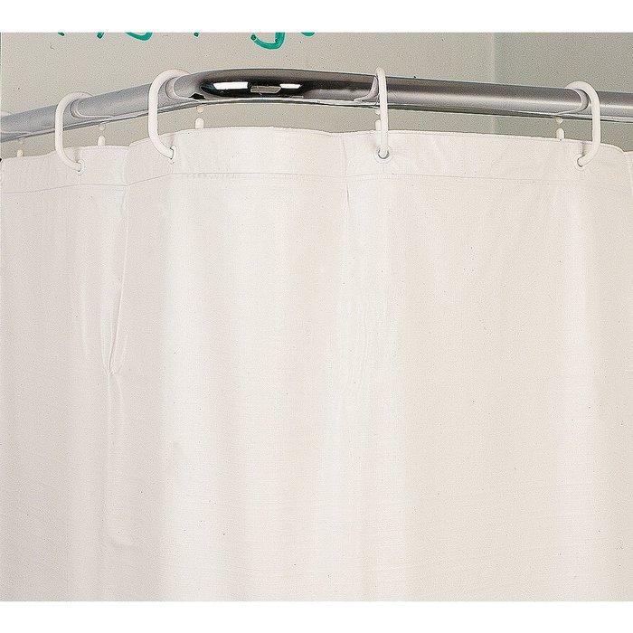 Rideau de douche vinyle - Blanc-1