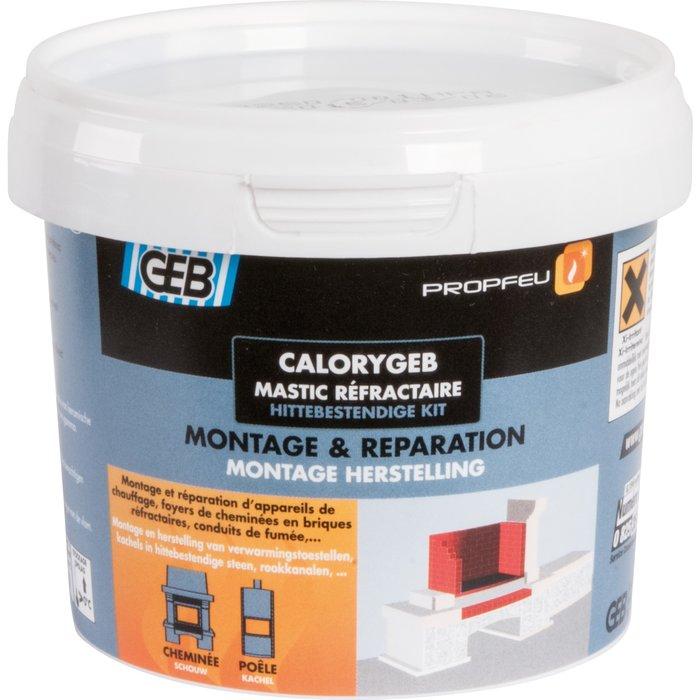 Mastic réfractaire Calorygeb - Pour montage d'appareils de chauffage-3