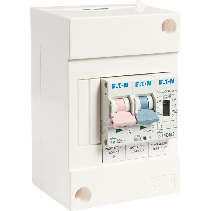 Coffret de protection pour chauffe-eau - 4 modules - Spécial heures creuses-1