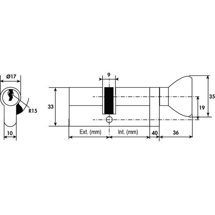 Cylindre à bouton TE5 - Varié - Nickelé-1