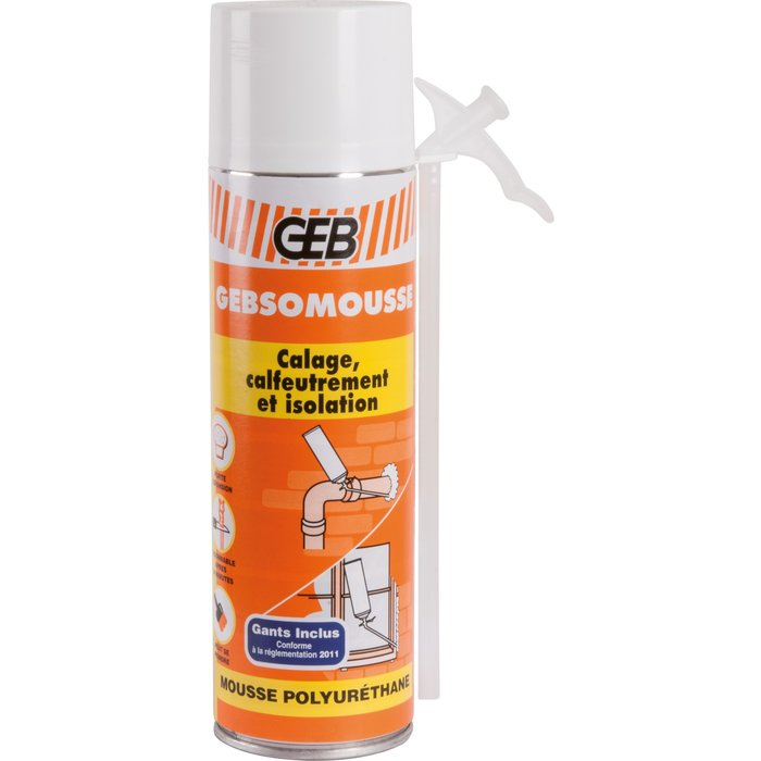 Mousse polyuréthane Gebsomousse - Spécial calfeutrement et isolation-1