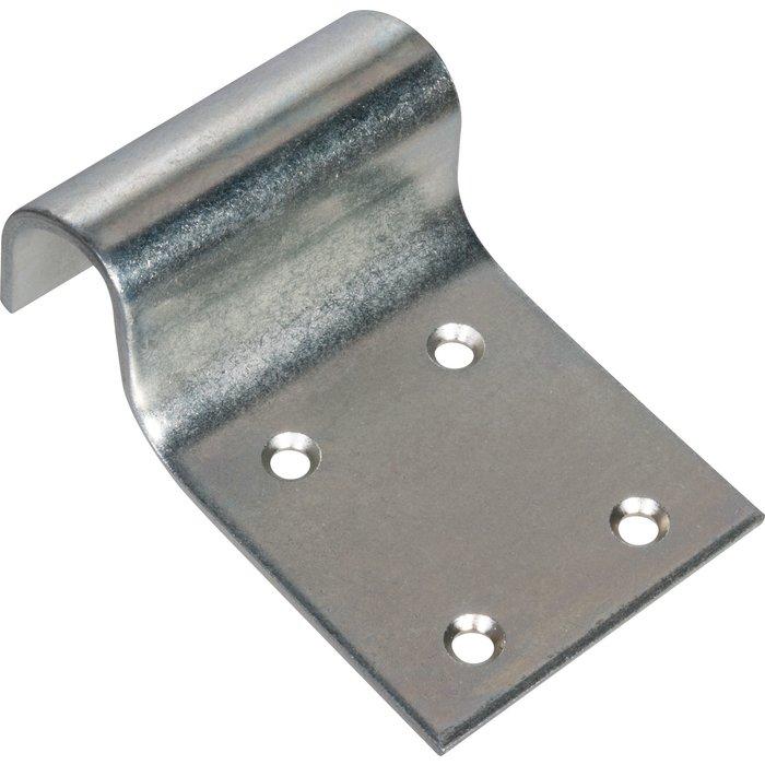 Battement de portail - À visser - Zingué blanc - Dimension 145 x 90 mm