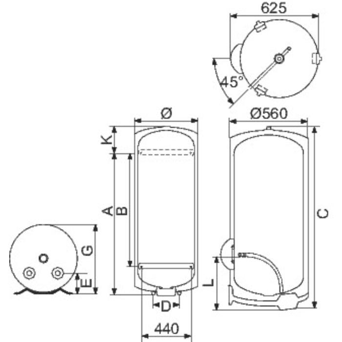 Chauffe-eau blindé vertical - Initio - Fixation murale-1