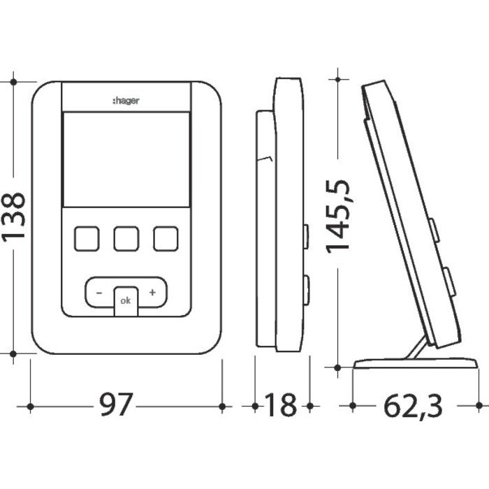 Thermostat d'ambiance digital programmable EK560-1