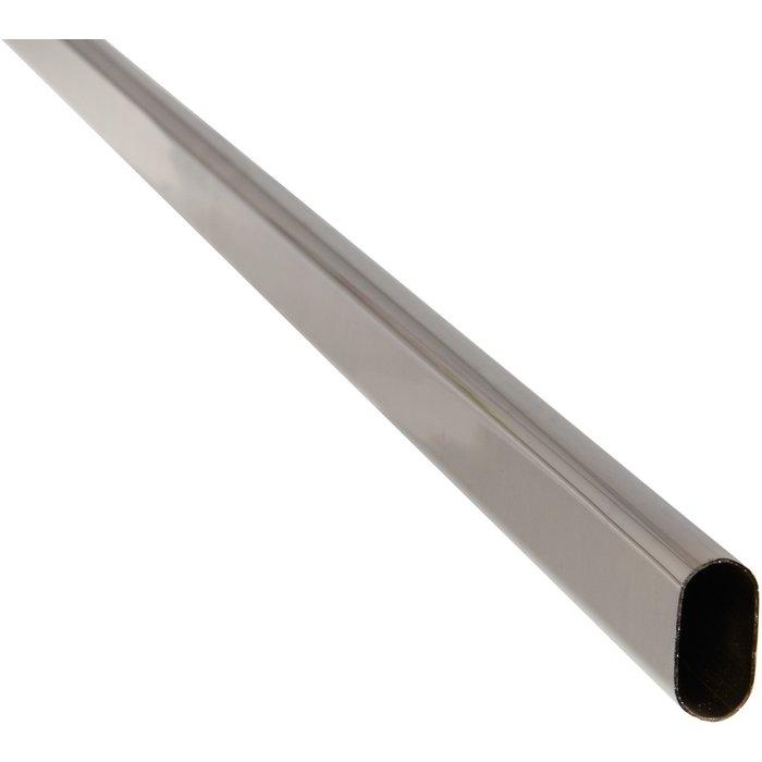 Tube ovale acier chromé