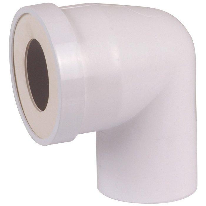 Pipe WC courte à 90° - Mâle - Diamètre 100 mm