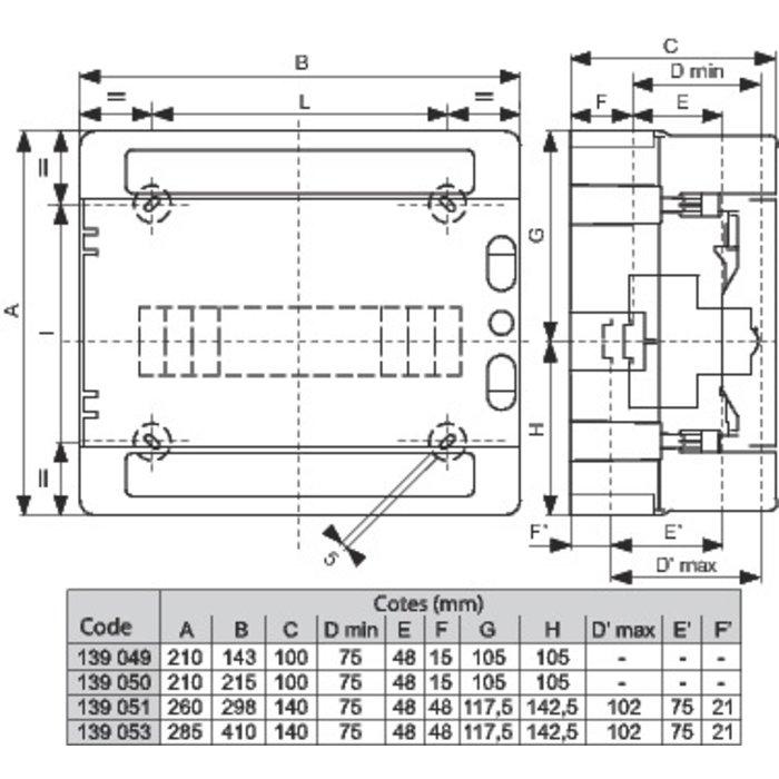 Coffret électrique IP65 - Ensaillie - 1 rangée-1