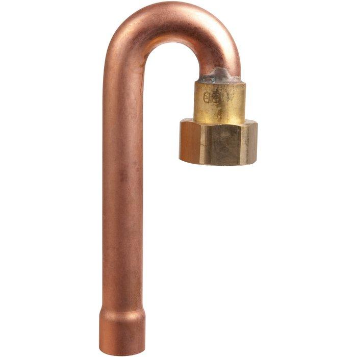 Raccord coudé à 180° - Spécial gaz naturel - À souder sur cuivre