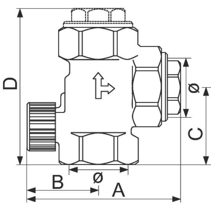 Clapet anti-thermosiphon - Laiton - Femelle-1