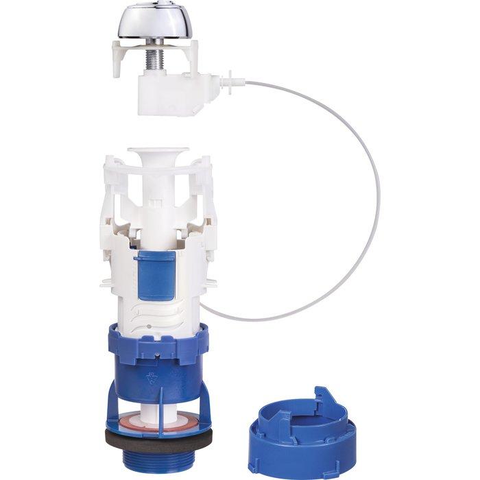 Soupape rénovation mécanisme WC Clip'Easy - Double débit - À câble
