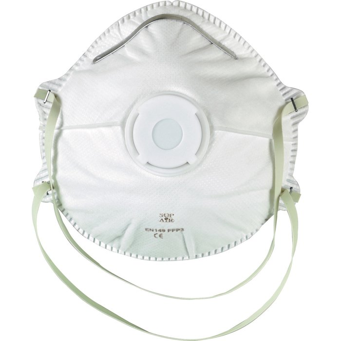 Masque respiratoire coque Ffp2 - Avec valve d'expiration - Usage unique
