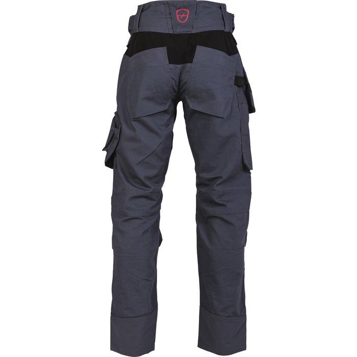 Pantalon de travail multipoches Brakel - Toile - Gris-2