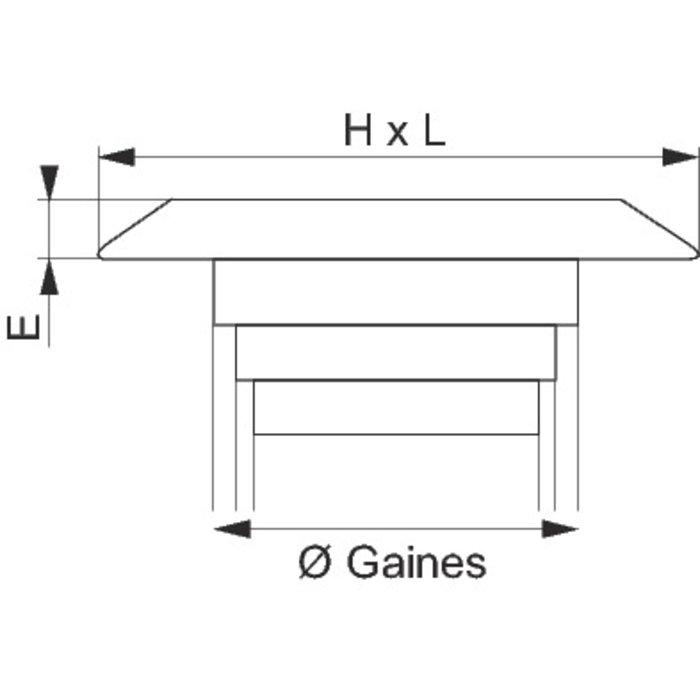 Grille d'aération - Spéciale façade - Plastique - Sable-1