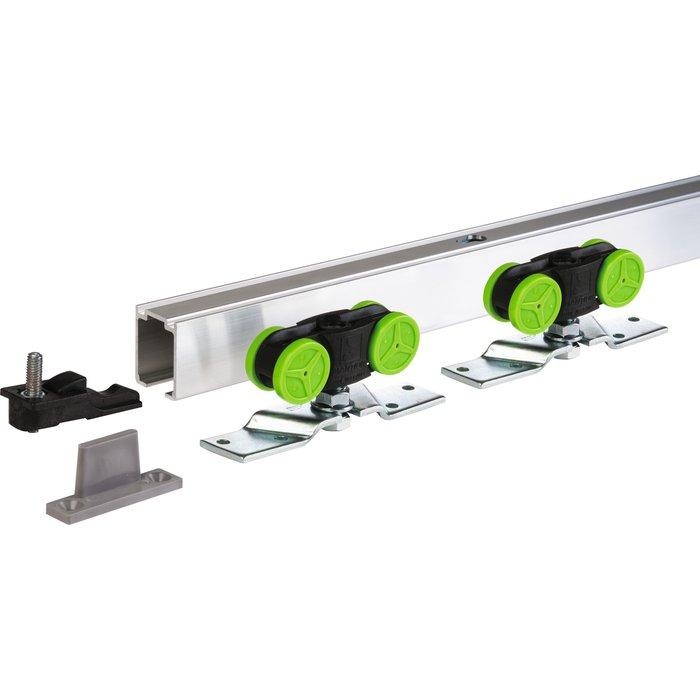 Kit de garniture de porte coulissante MA - Avec rail - Capacité 40 kg