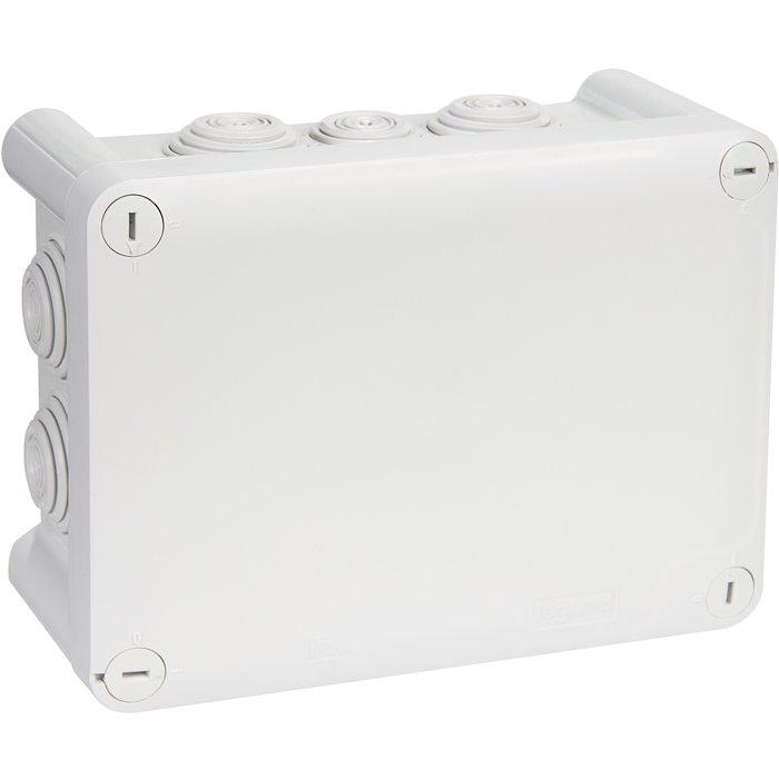 Boîte de dérivation rectangulaire Plexo - Avec embout - À entrée directe