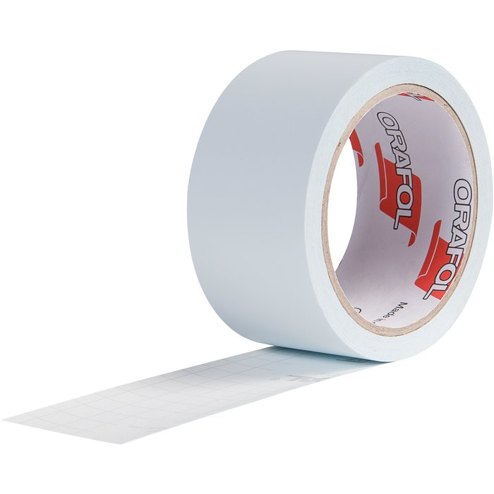 Ruban adhésif pour repérage de surface vitrée - Blanc - Longueur 10 m-1