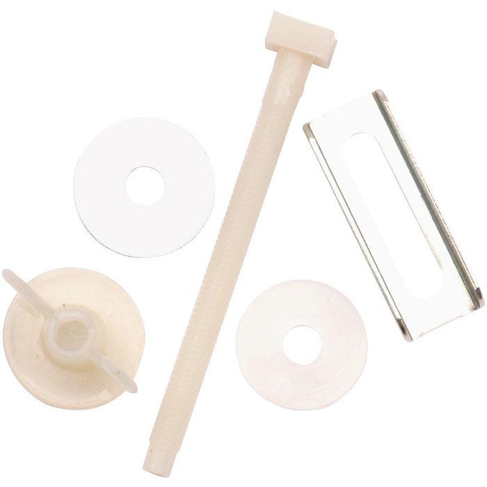 Vis de fixation nylon pour abattant WC double Jeco