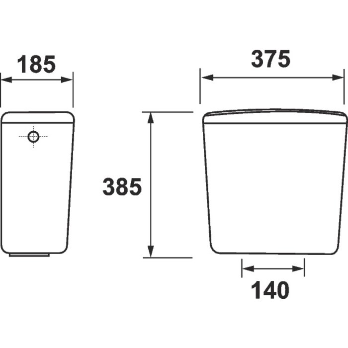 Réservoir WC céramique universel - Mécanisme 3/6 l-1