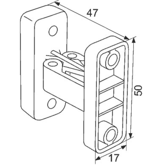Arrêt de porte à pince - Plastique - Gris-1
