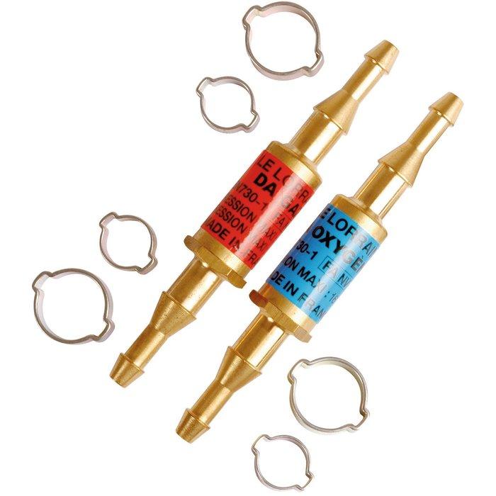 Clapets anti-retour pare-flamme - Montage sur tuyau - Jeu de 2 pièces