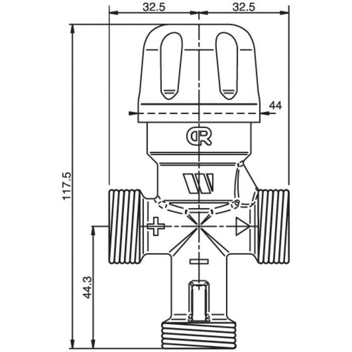 Mitigeur thermostatique pour chauffe-eau - Mâle-1