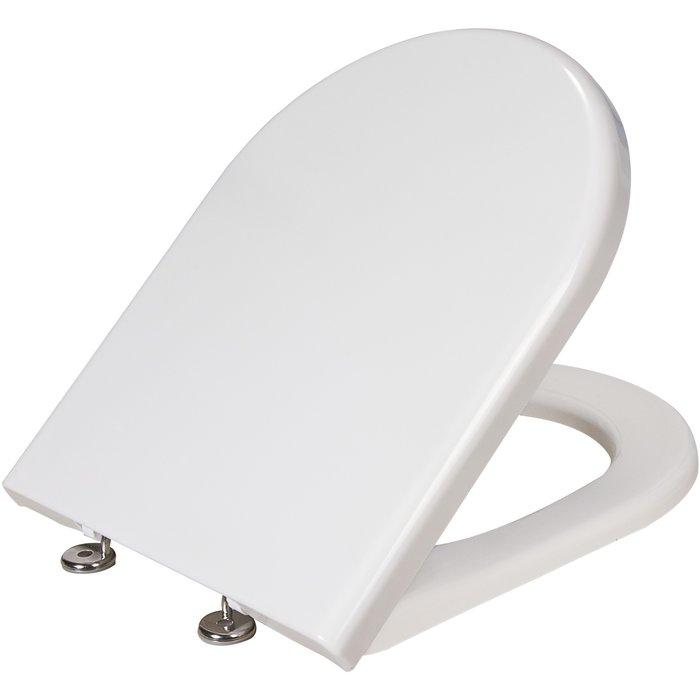 Abattant pour pack WC céramique caréné-1