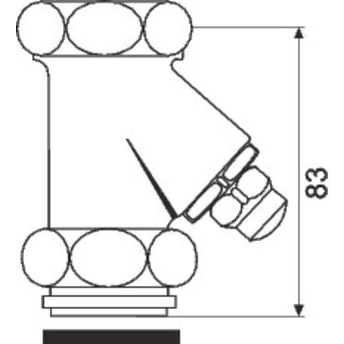 Robinet d'arrêt droit pour Eclair et Eyrem-2