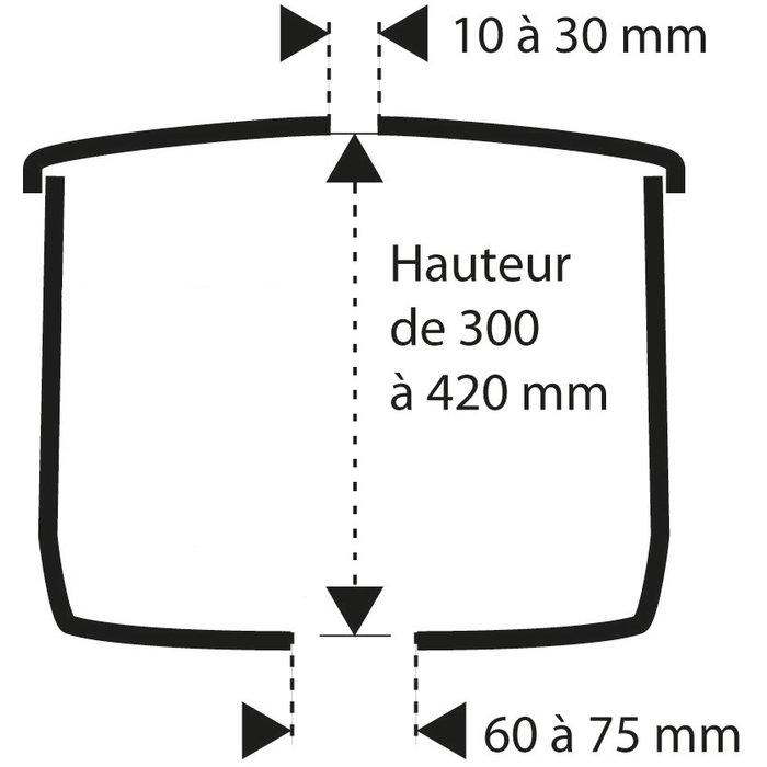 Kit mécanisme de WC 270 - Poussoir simple débit-1