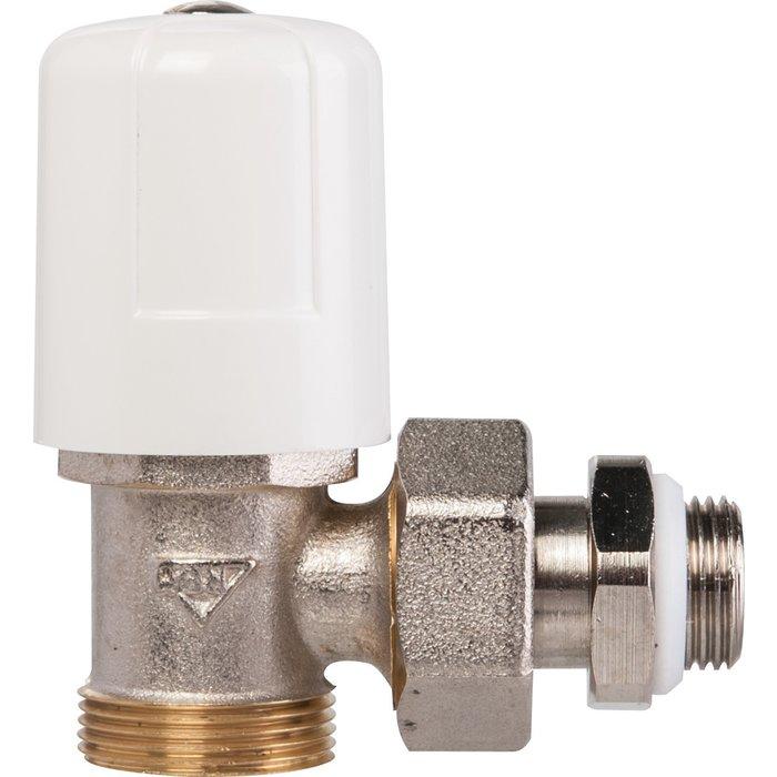 Robinet de radiateur - Simple réglage - Équerre - Mâle-1