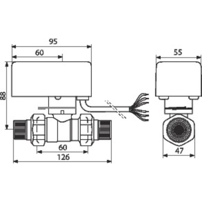 Vanne directionnelle à sphère motorisée-1