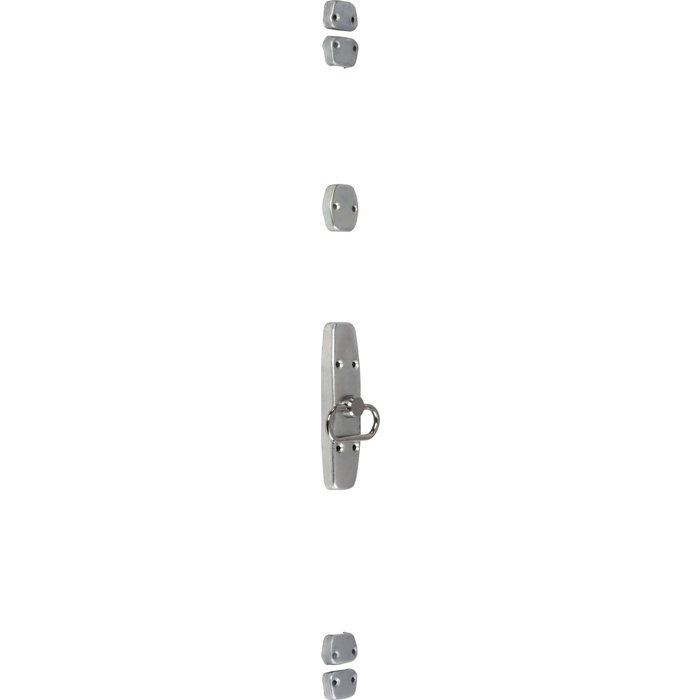 Crémone de fenêtre type Map 1 - À anneau - Acier zingué