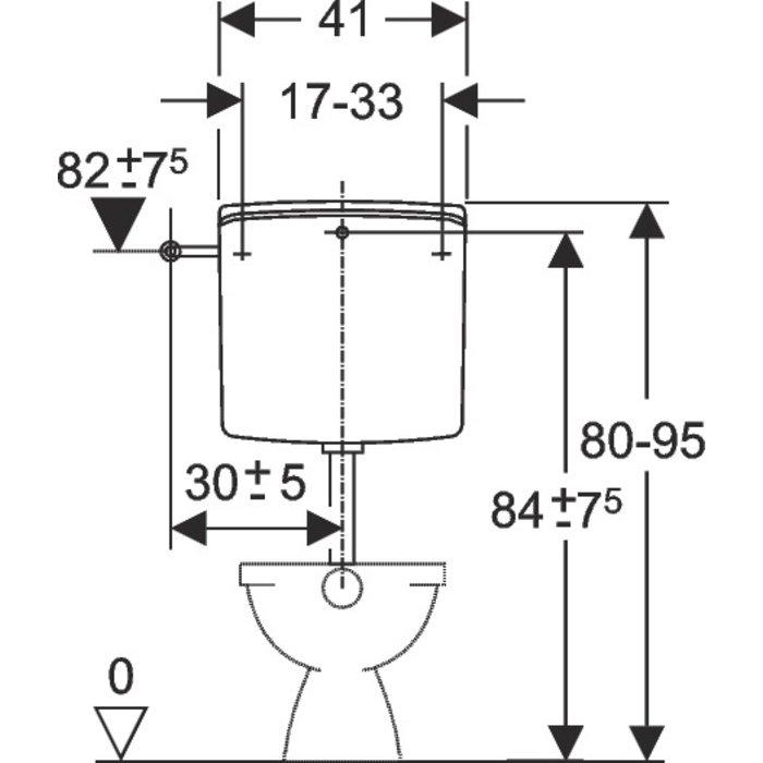 Réservoir WC AP 140 - Semi-bas - Simple débit-1