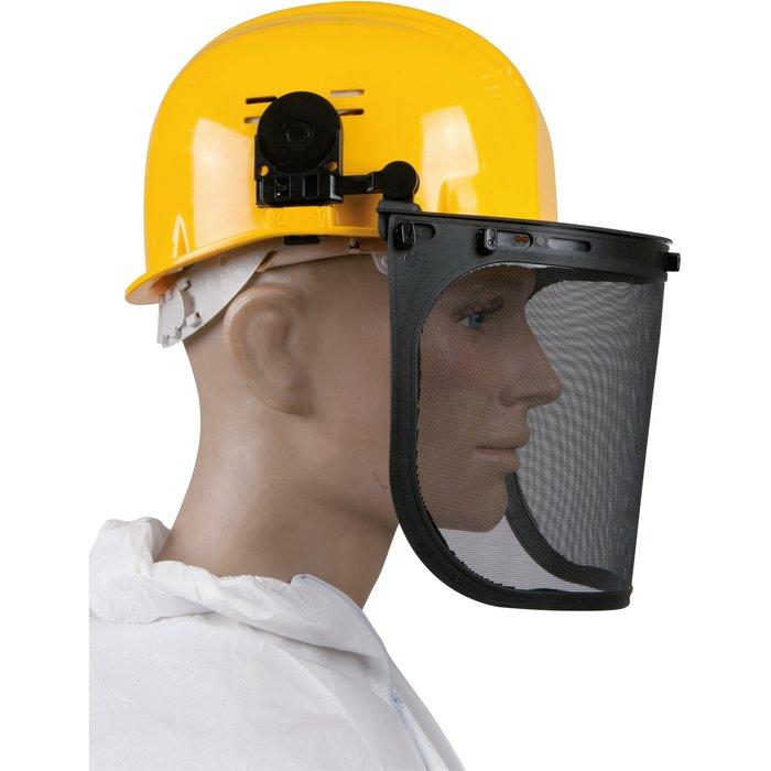 Écran de protection moustiquaire pour casque de chantier-2