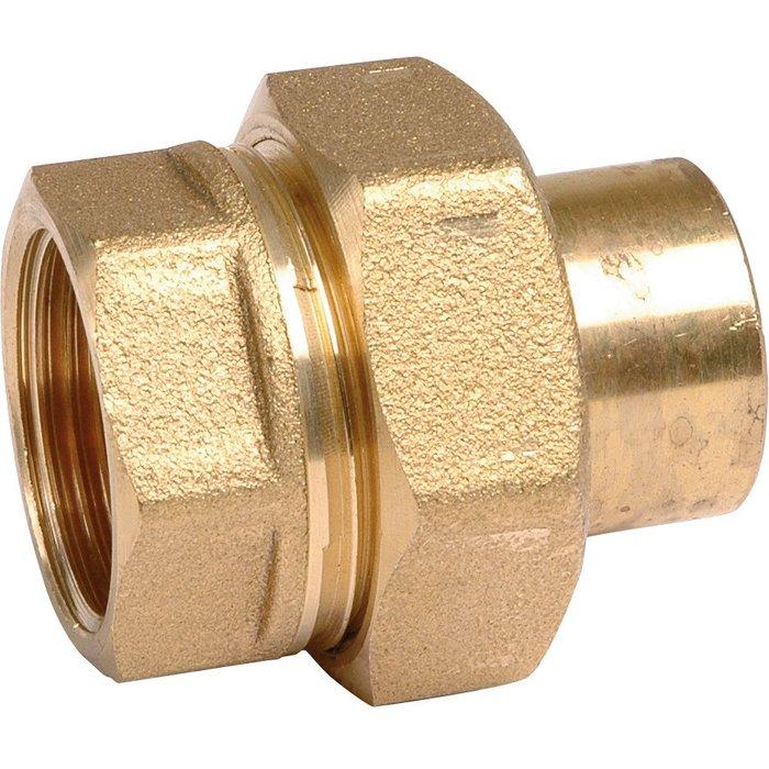 Raccord union droit à souder - 3 pièces - Laiton - Femelle - 340GCU