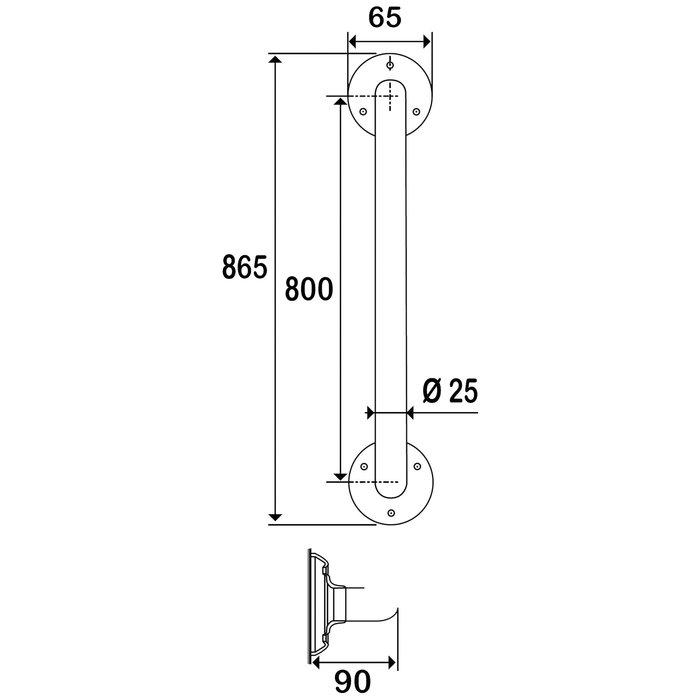 Barre d'appui droite - Diamètre 25 mm-2