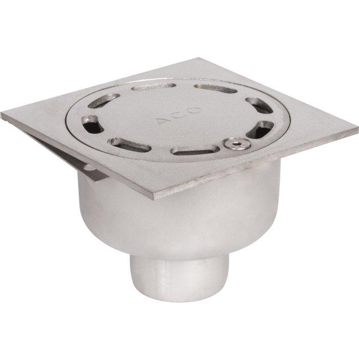 Siphon de sol inox - Longueur 100 mm - Largeur 100 mm - Spécial collectivité-1