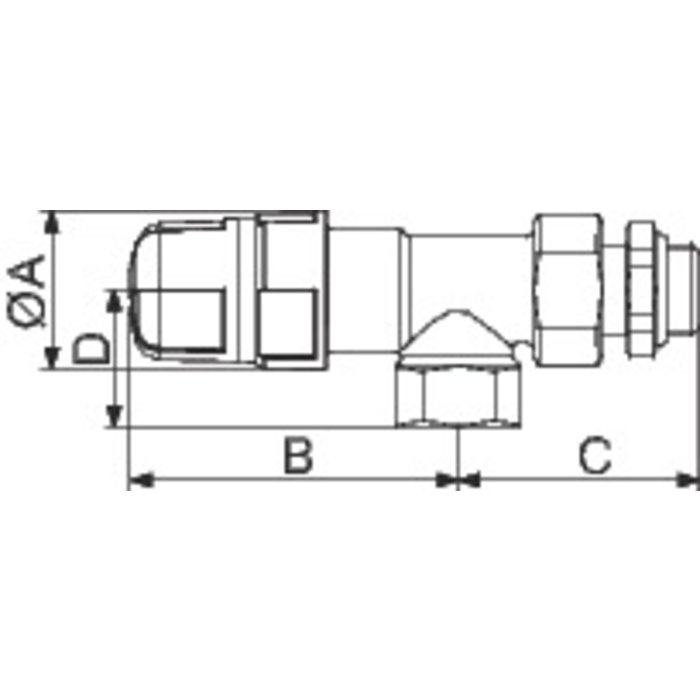 Corps de robinet thermostatique M30 - Équerre inversé - Femelle-1