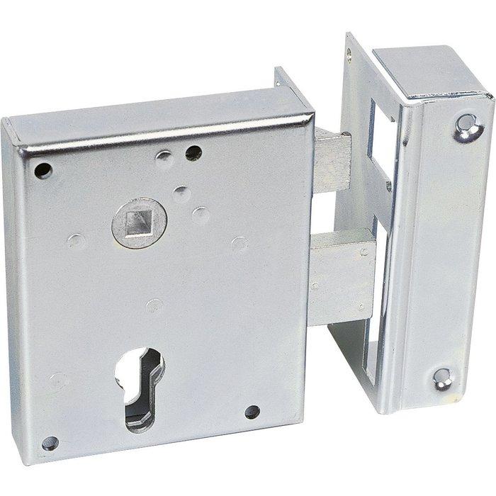 Serrure de sûreté pour portail 7316 type Alsace - À fouillot - Axe 60 mm